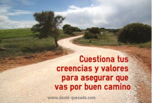 Cuestiona tus creencias y valores by David Quesada